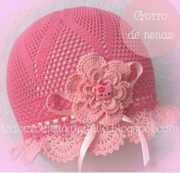Patrón ganchillo de Gorro de Nenas | Todo crochet | Gorros, boínas ...