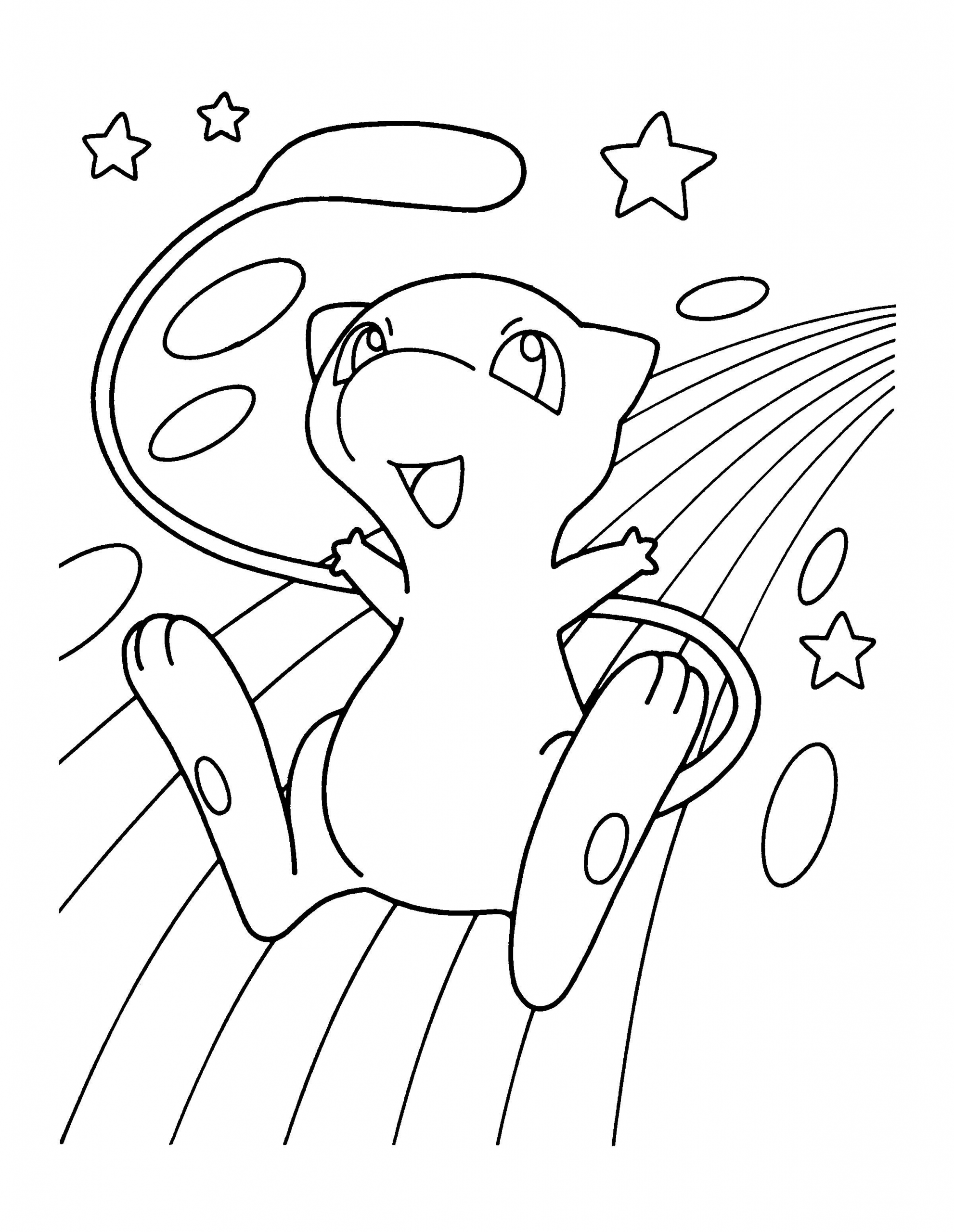 Mew Pokemon Coloring Page Youngandtae Com Pokemon Coloring Pages Cartoon Coloring Pages Horse Coloring Pages