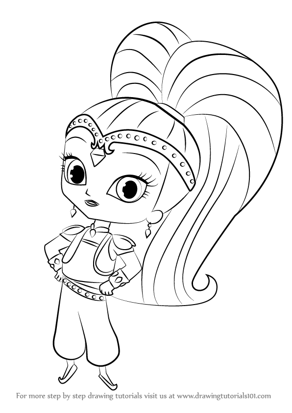Kleurplaten Shimmer And Shine.Learn How To Draw Shine From Shimmer And Shine Shimmer And Shine