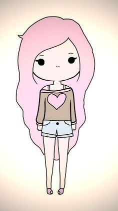 Echo En El Ordenador Echo Por Sonia De Sweet California Kawaii Girl Drawings Cute Kawaii Drawings Cute Easy Drawings