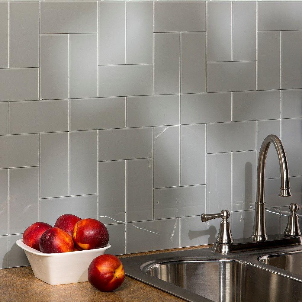 Aspect Steel Gl Backsplash Tile Kit