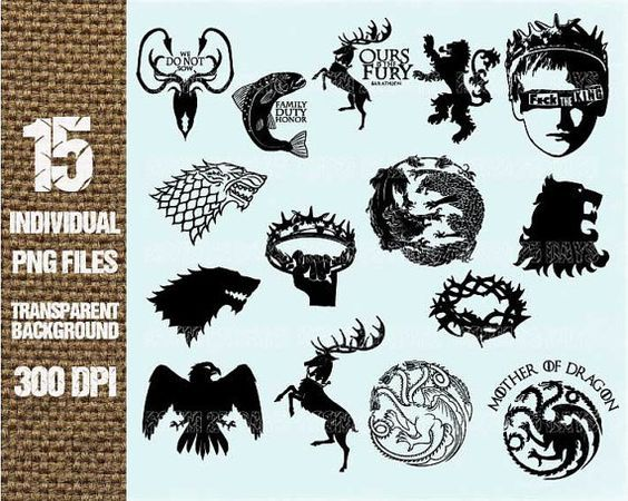 Game of thrones crown. Element clipart digital