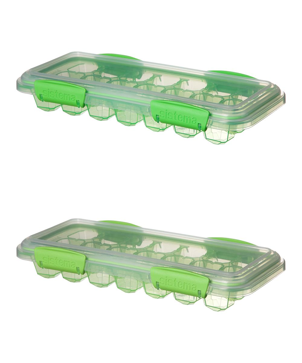 Green Large Ice Tray - Set of Two