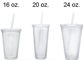 Blank 16 Oz Double Wall Acrylic Color Tumbler With Lid And Straw Acrylic Tumblers Vinyl Tumblers Cricut Supplies