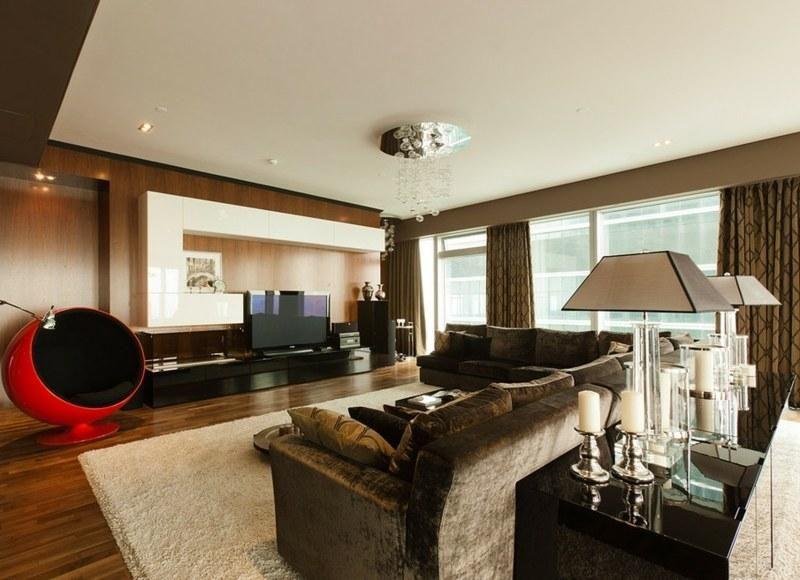 Moderne Ideen des Salons von braunen Wänden Haus - wohnzimmer deko wand