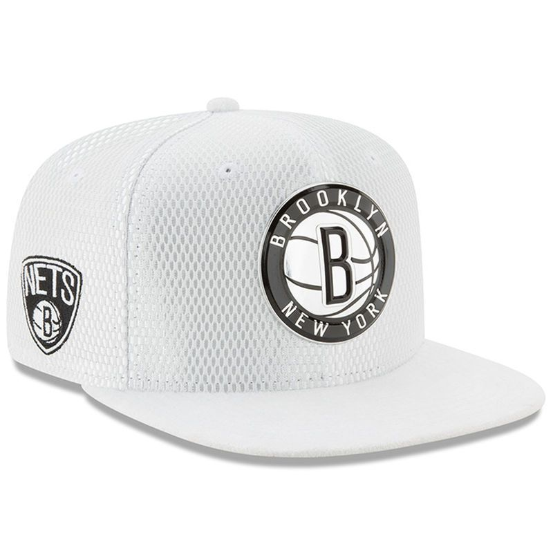 8d96cd4424d Brooklyn Nets New Era 2017 NBA Draft Official On Court Collection 9FIFTY  Snapback Hat - White
