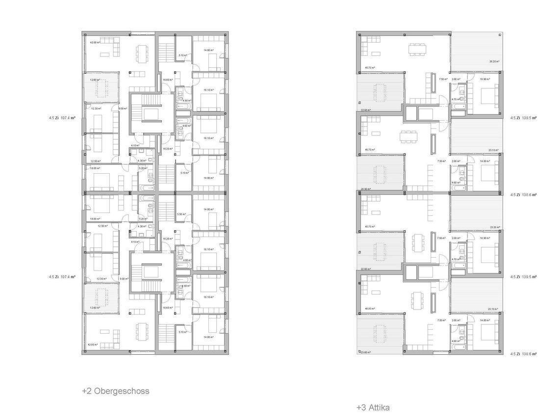 Wohn berbauung sch nberg ost gwj architektur for Beste grundrisse