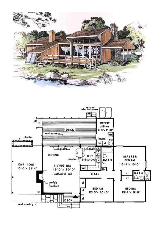 Coastal contemporary house plan 90638 coastal house for Modern passive solar house plans