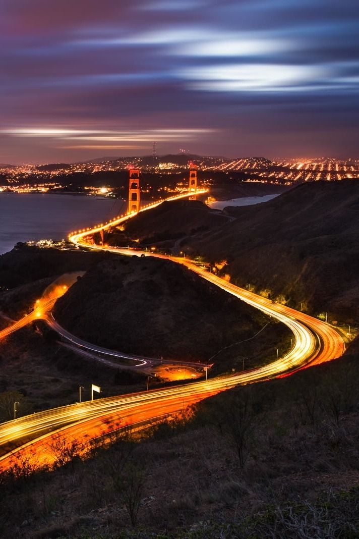 "packlight-travelfar: ""(via 500px / Curves of Golden Gate 
