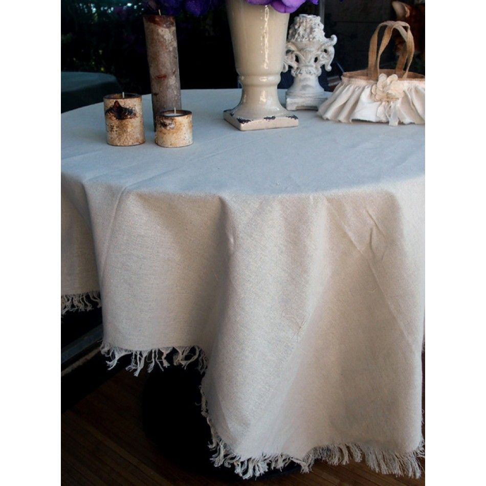 cotton muslin linen tablecloth cover with fringe edge fringe linen cloth wholesale wedding supplies discount wedding favors party favors - Discount Table Linens