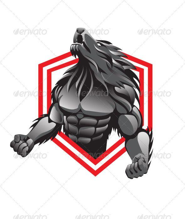 Wolf Man Logo Design Art Picture Logo Nirvana Poster Art