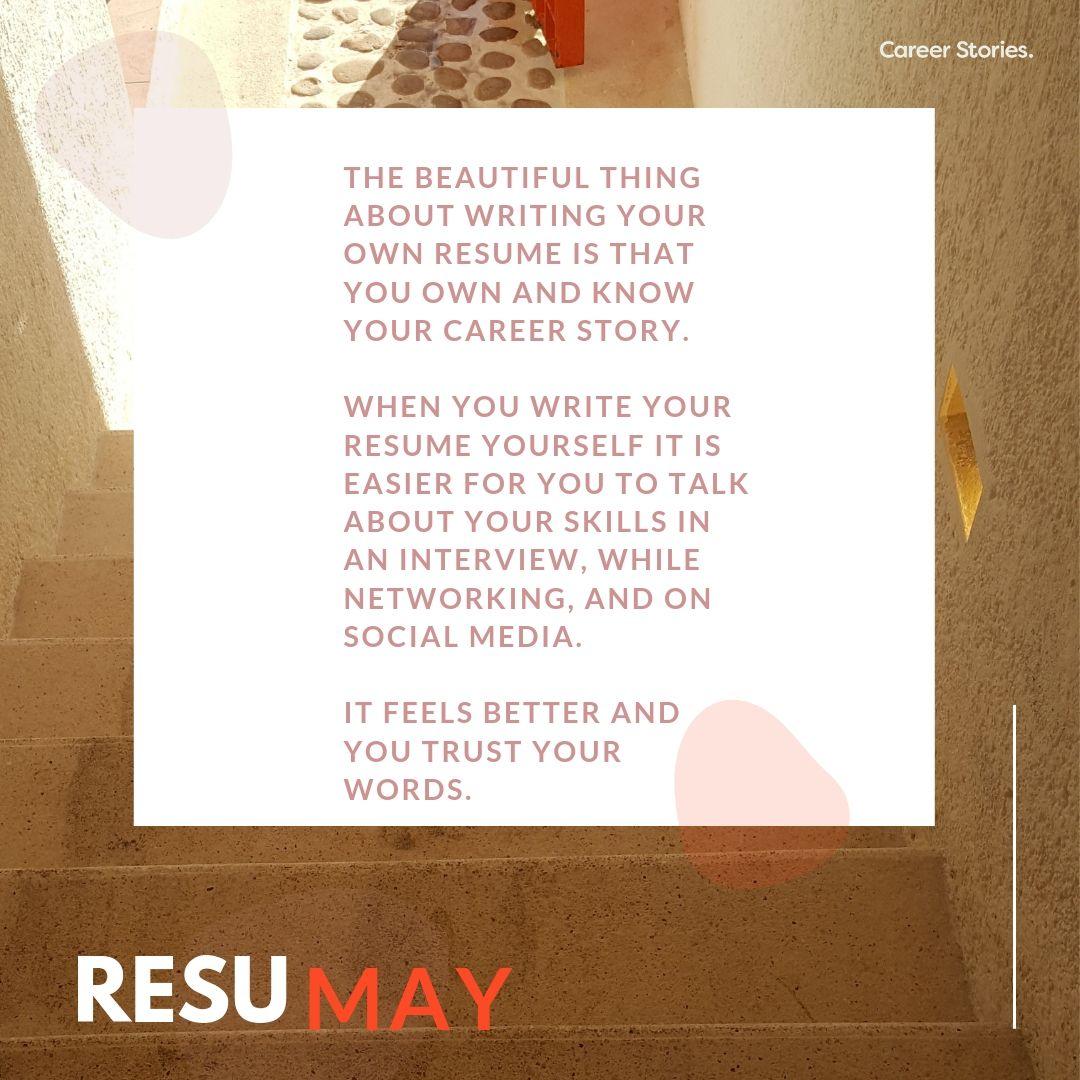 The ResuMAY Resume advice, Resume writing, Job