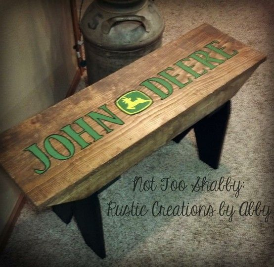 John Deere Bathroom Decor: John Deere Farmhouse Bench...ok This Is Soooo Awesome