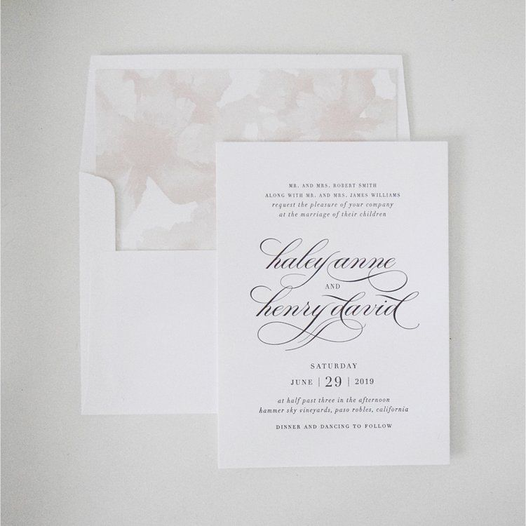 The Bridal Boutique Blush Wedding Invitationswedding