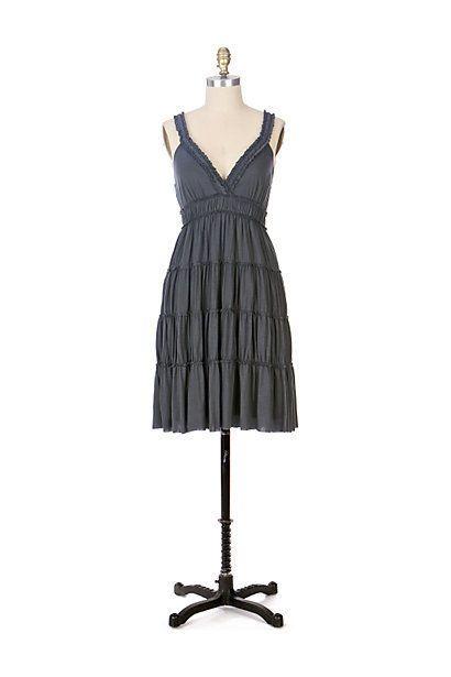 VELVET BRAND Anthropologie teal blue tiered dress boho hippie modal V-neck M #Velvet #Sundress #Casual