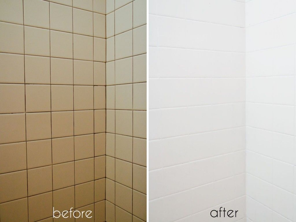 A Bathroom Tile Makeover With Paint With Images Bathroom