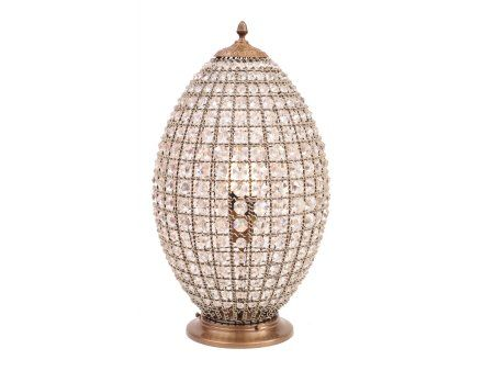 The egg shaped crystal lamp is part of premiergifts range of elegant home accessories which