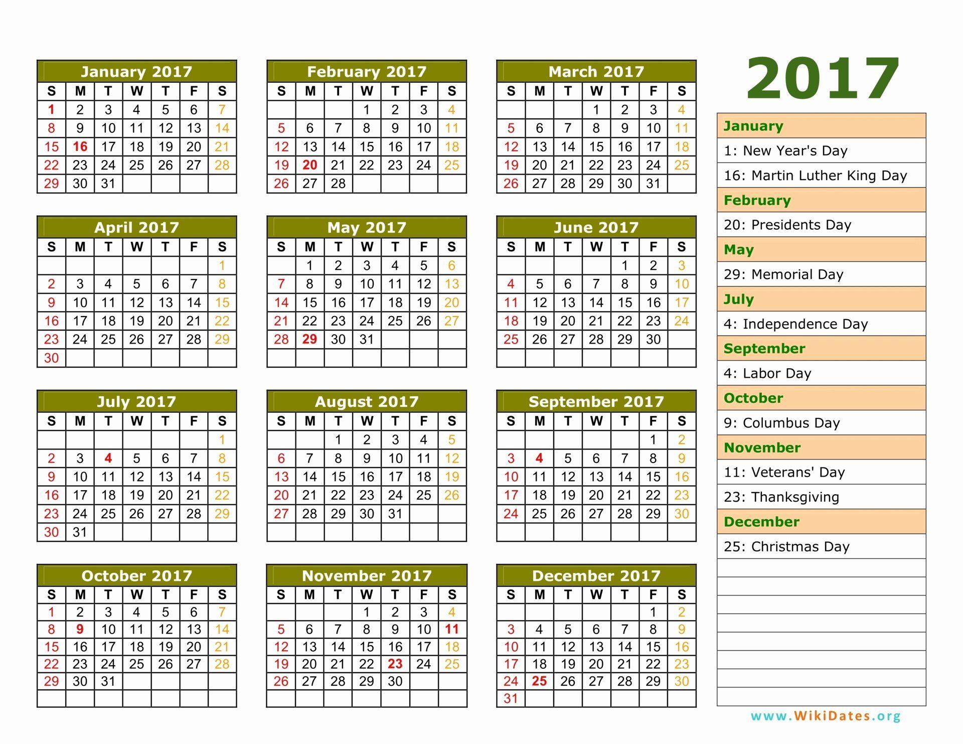 Photo Calendar Template 2017 Beautiful 2017 Calendar Calendar Template Calendar Printables Daily Calendar Template