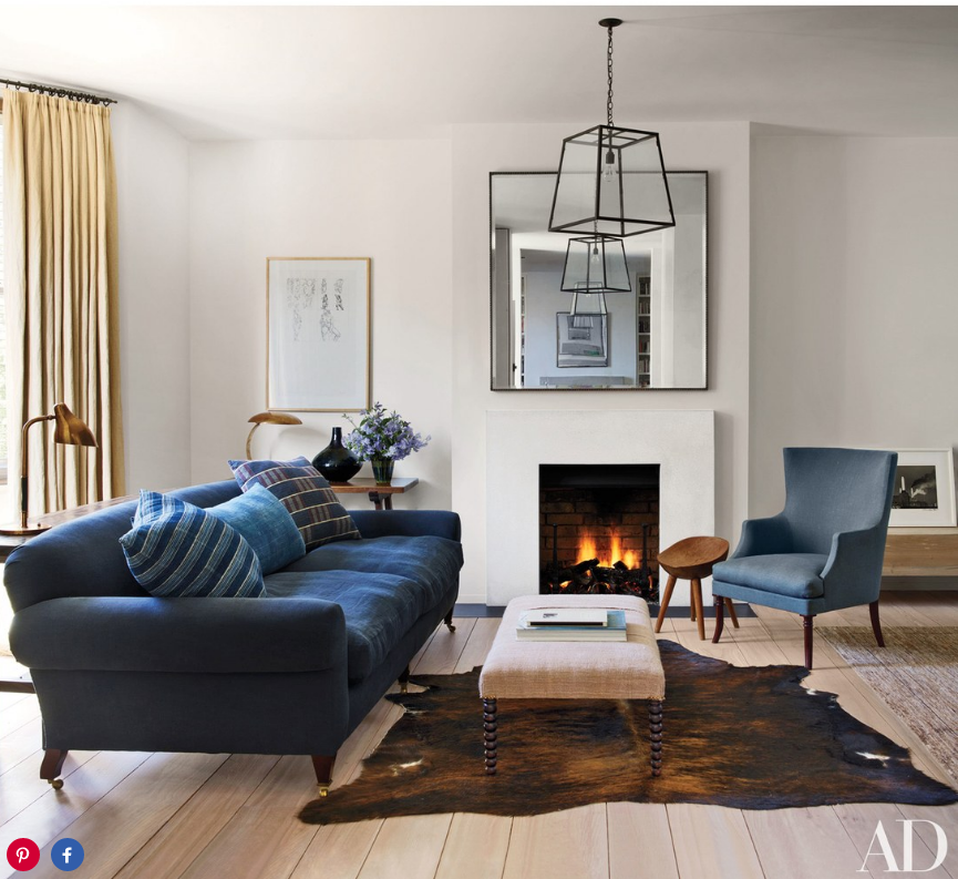 Rose Uniacke In Architectural Digest, Modern, Living Room