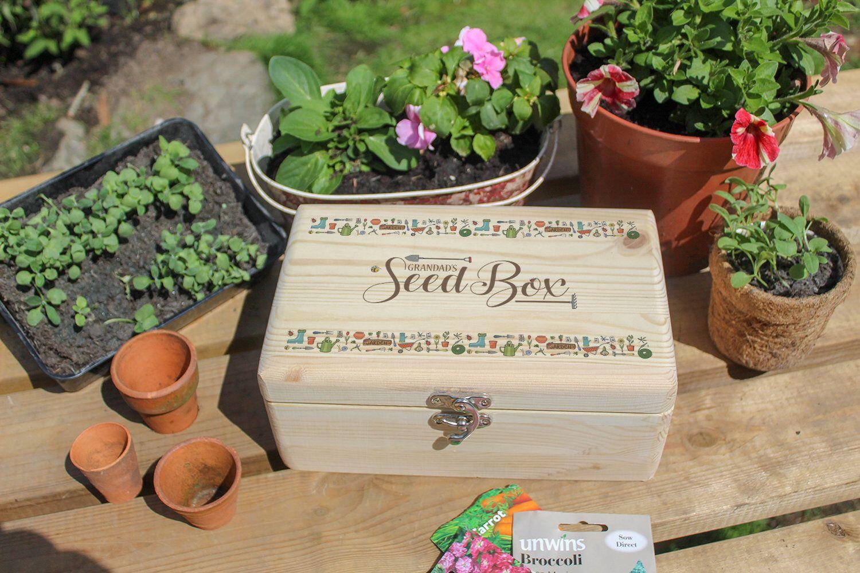Personalised Seed Box Gift Gardener S Vegetable Flower Seed