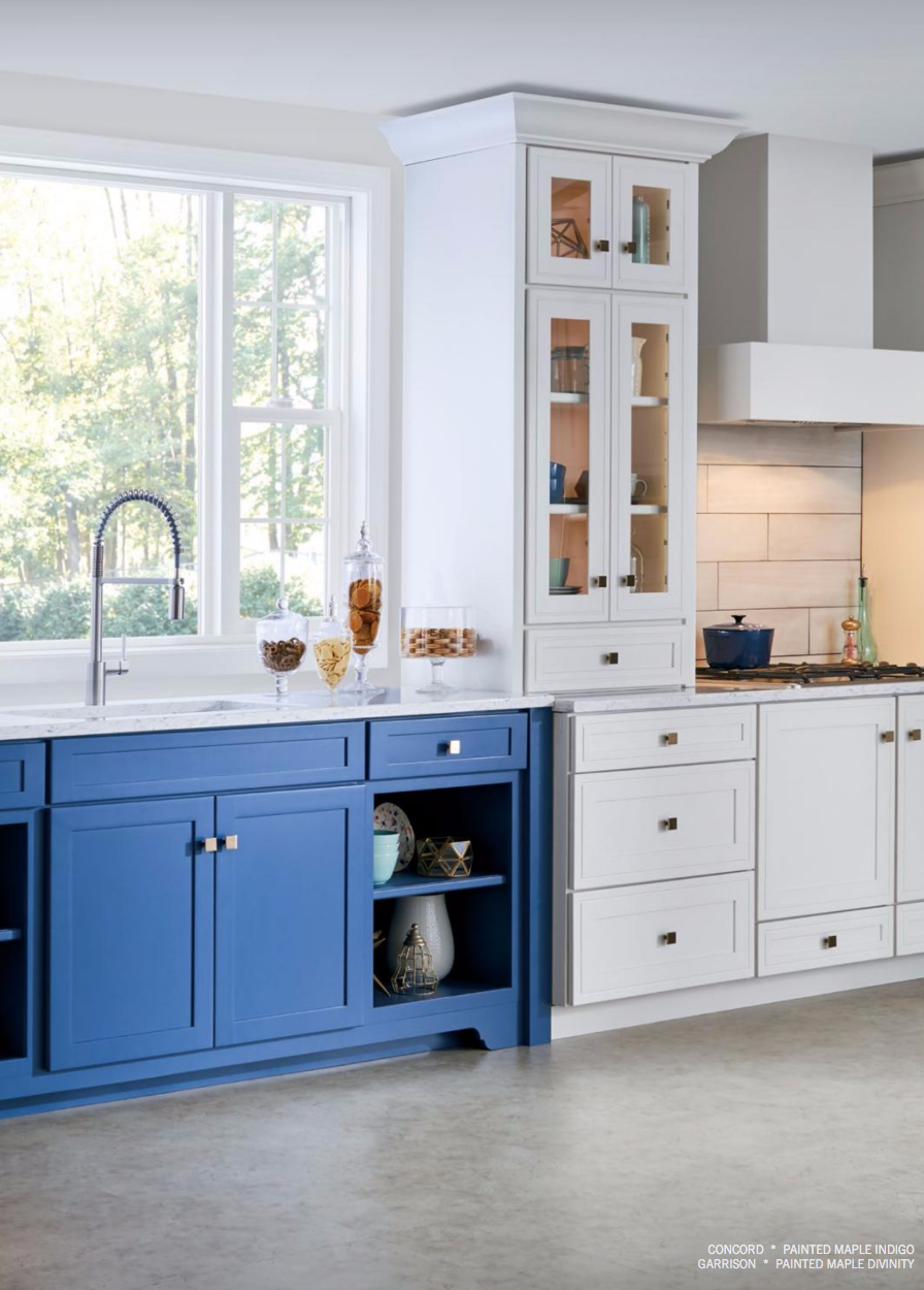 Another Beautiful Pop Of Color Courtesy Of Mid Continentu0027s Garrison And Concord  Cabinet Collections #MidContinent #cabinets #kitchen #design #remodel #color
