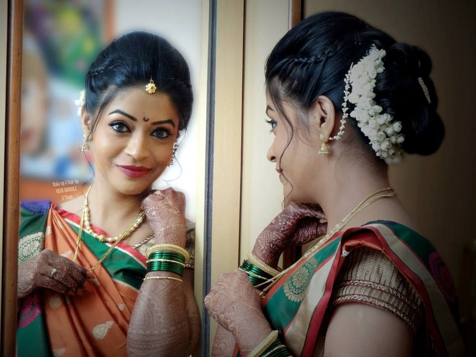 35 Hairstyle For Short Hair On Nauvari Saree New Inspiraton