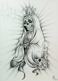 Resultat De Recherche D Images Pour Santa Muerte Dessin Black Ink Tattoos Warrior Tattoos Art Tattoo
