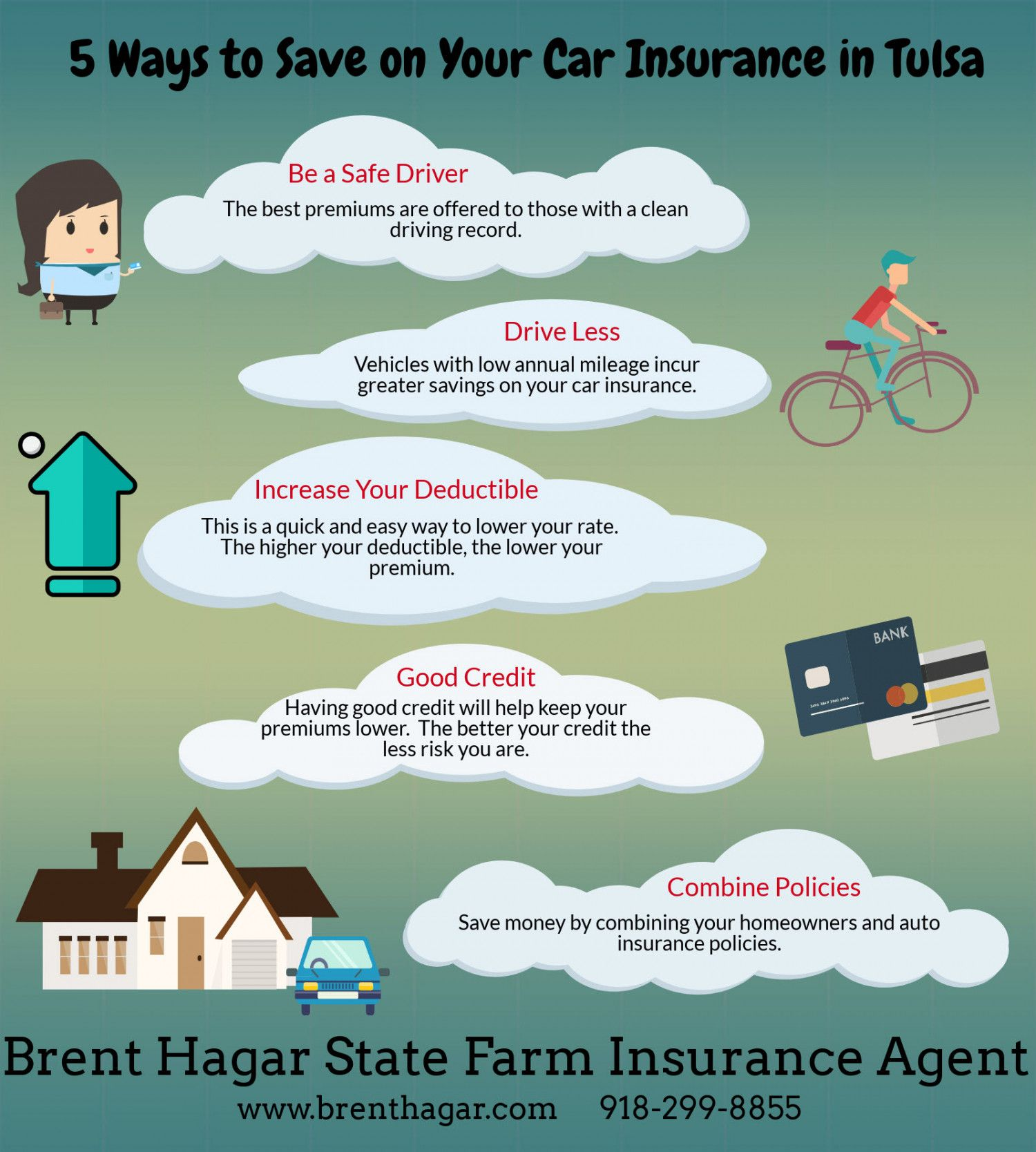 5 Ways to Save on Your Car Insurance in Tulsa Visual.ly