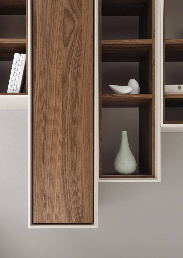 gorgeous walnut finishes Joinery + Shelves + Cabinets Pinterest