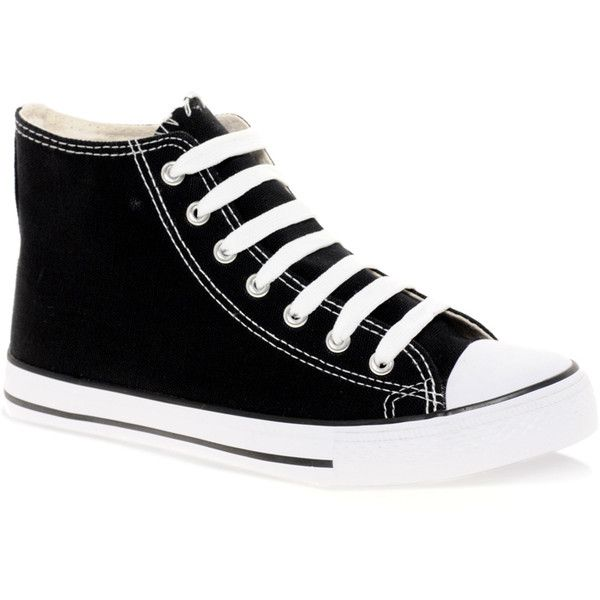 Extreme High Top Sneakers (28 AUD) ❤ liked on Polyvore featuring shoes, sneakers, sapatos, converse, zapatos, high top sneakers, round toe flat shoes, lace up flat shoes, leather cap toe lace-up shoes and polyurethane shoes