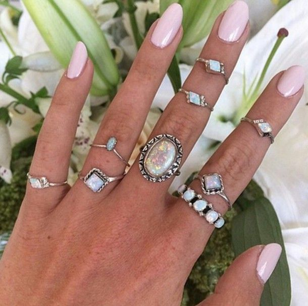 and silver diamonds summer jewelry hand ring diamond sweater nails nail rings girly polish jewels look cute l tings