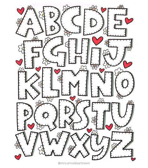 Pin by Kdna Duran on bordes Pinterest Moldes de letras, Letras