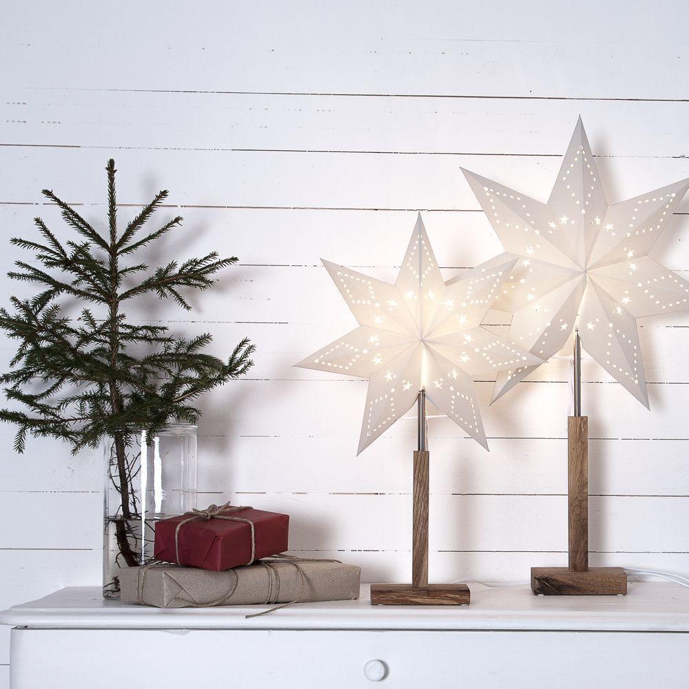 Standleuchte Stern Karo Weihnachtsdeko Weihnachten Christmas Advent Interior Interior Weihnachtsbeleuchtung Standleuchte Lampen Und Leuchten