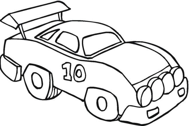 Car Coloring Pages Easy Pics