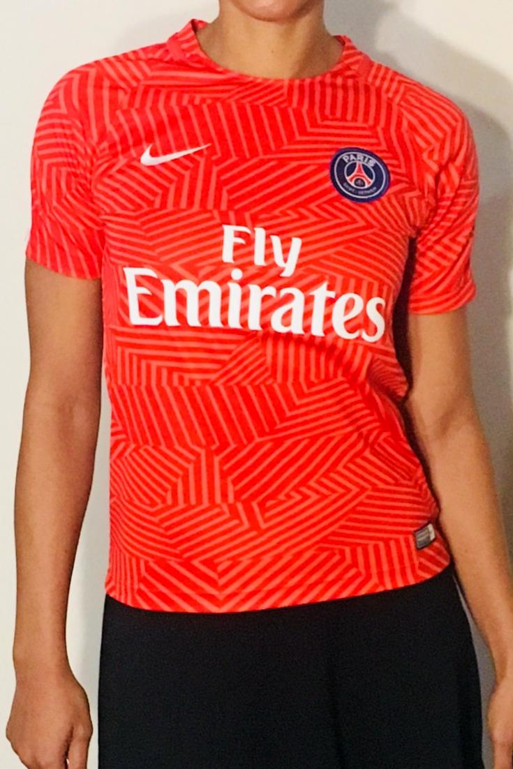 check out 3ec4a afc34 NIKE Paris Saint Germain Pre Match Training S/S Soccer Shirt ...
