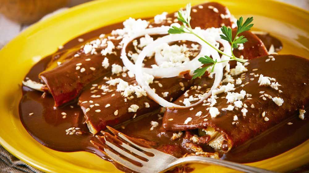 Enchiladas de mole con pollo | Receta | Recetas de comida ...