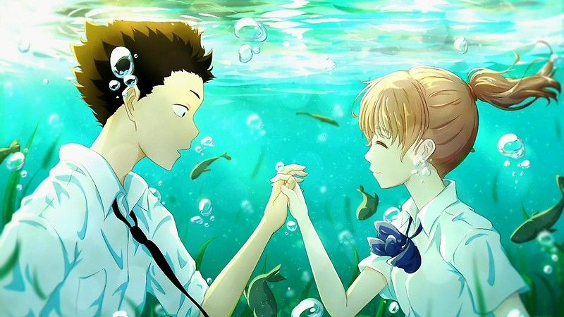 A Silent Voice Posters By Norskuhd Redbubble Anime Films Anime Anime Love