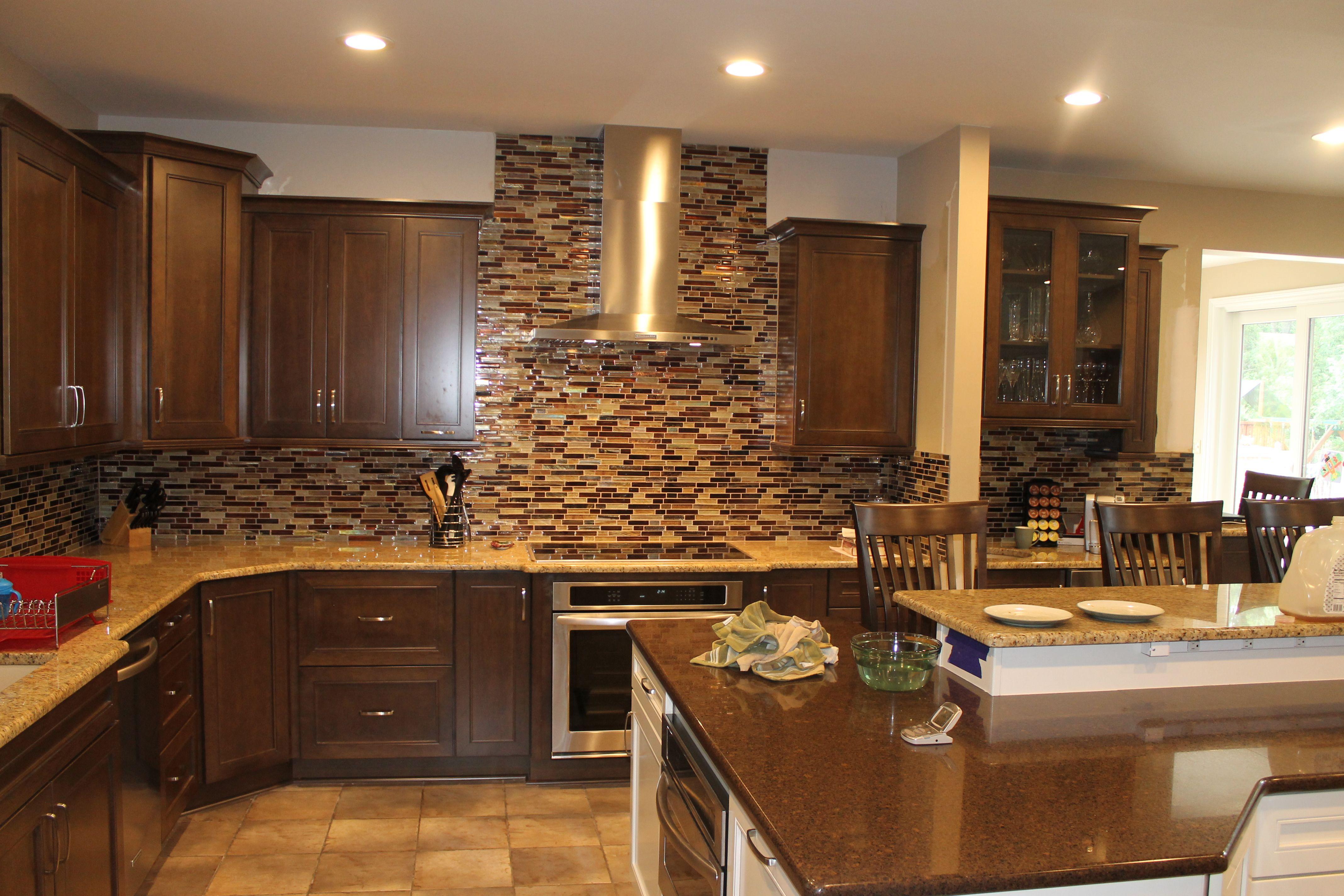 Medium Maple Cabinets with light Granite countertops and ... on Light Maple Cabinets With Black Countertops  id=20195
