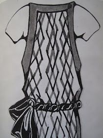 Liubov Popova dress design from the mid 20's.