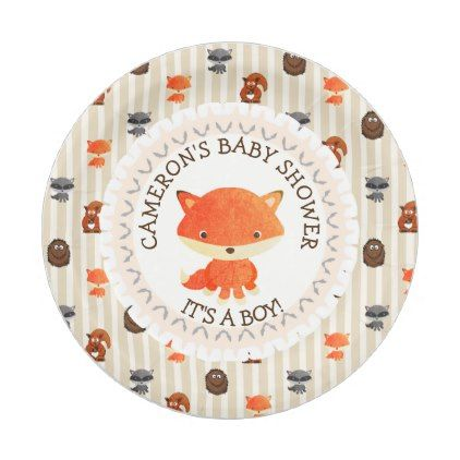 Personalized baby shower plates woodland themed baby gifts personalized baby shower plates woodland themed baby gifts giftidea diy unique cute negle Gallery