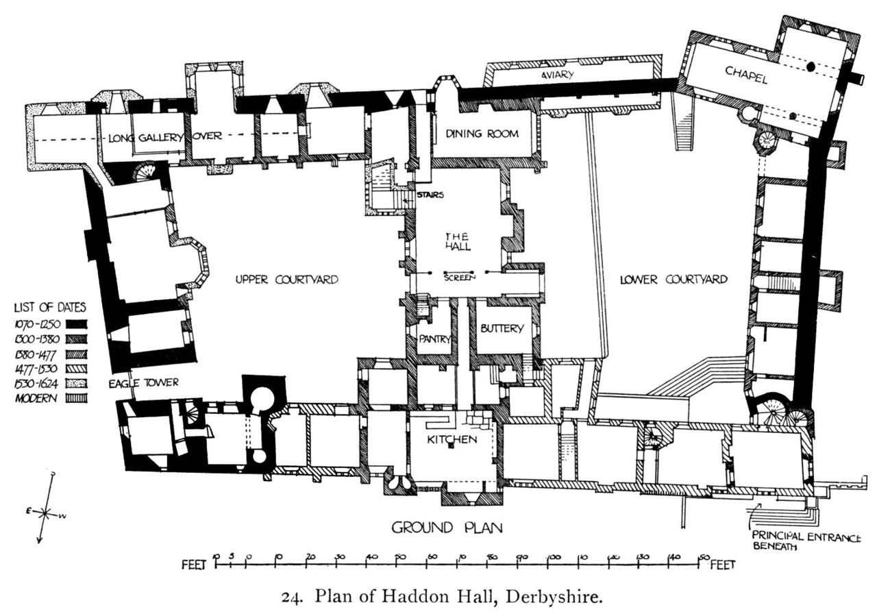 Haddon Hall Wikiwand Castle Layout Haddon Hall Floor Plans