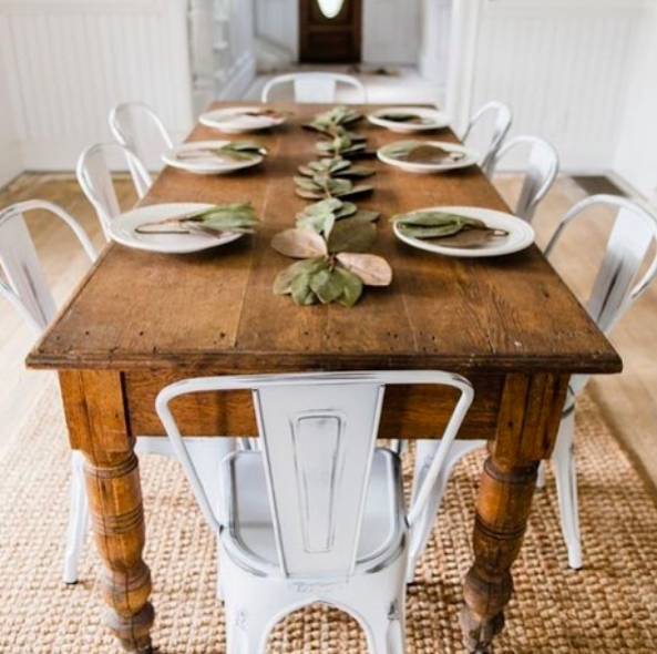 Metal Chairs Farmhouse Dining Rooms Decor Farmhouse Dining Room Table French Country Dining Room