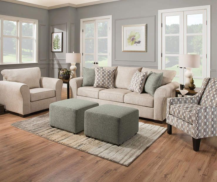 Simmons Davis Beige Sofa in 2020 | Beige sofa living room ...