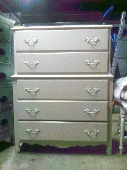 Beautiful French Provincial 2 Tier 5 Drawer Dresser Color Off White Painted By Www