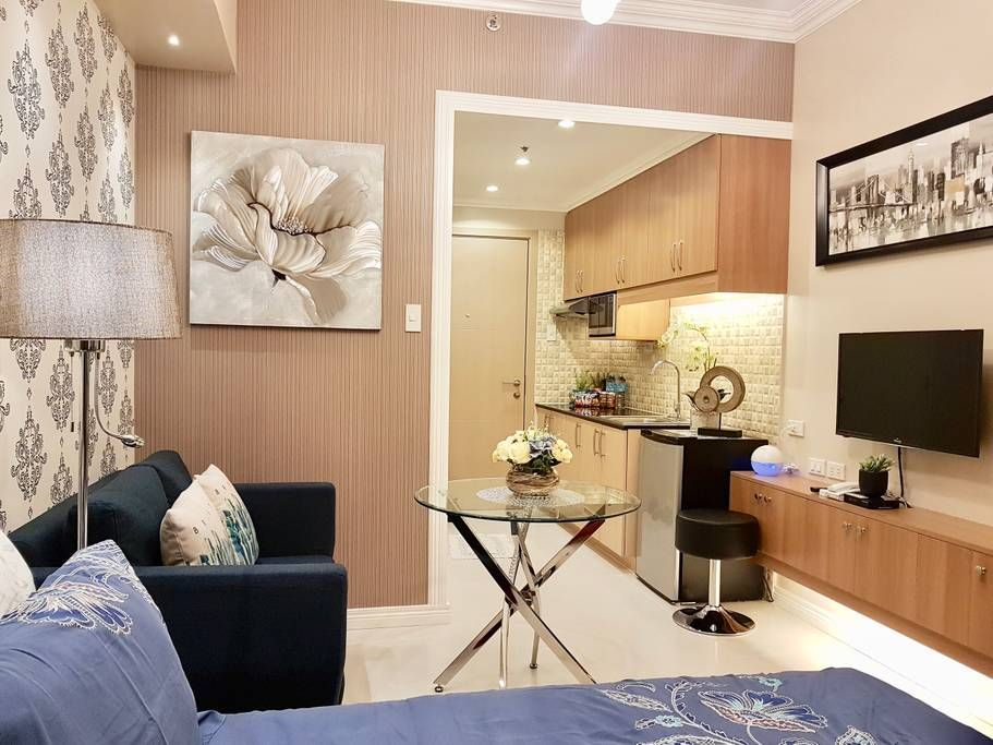Entire Home Apt In Quezon City Philippines Welcome To Our Hotel Styled Condo At Smdc Sun Condo Interior Design Condo Interior Design Small Small Condo Living