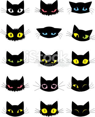 Various Emotions Of A Cat Expressed Through The Eyes Fur Ears And Cat Vector Cat Face Drawing Cat Art Illustration