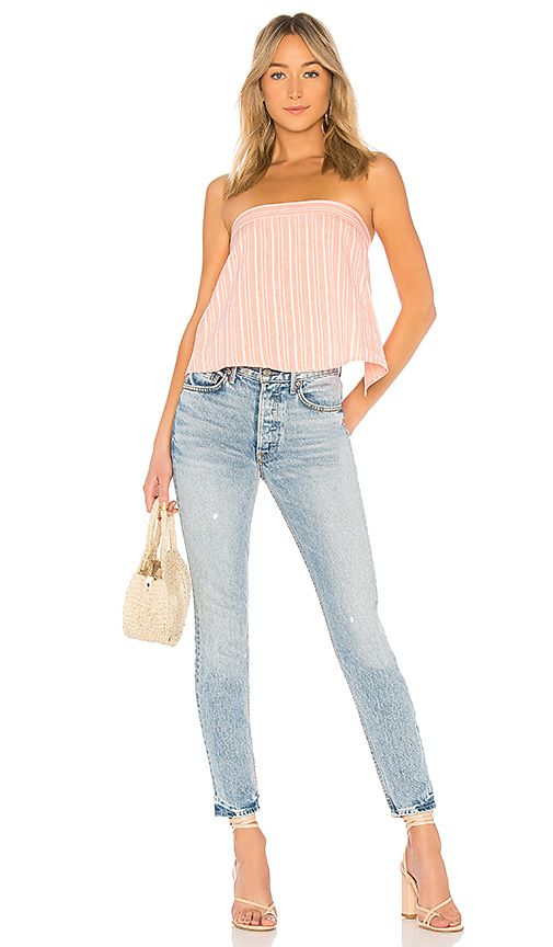 About Us Hannah Tie Back Crop Top