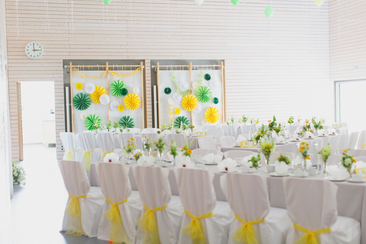 pinterest wedding decoration ideas | DIY Yellow Wedding Reception ...