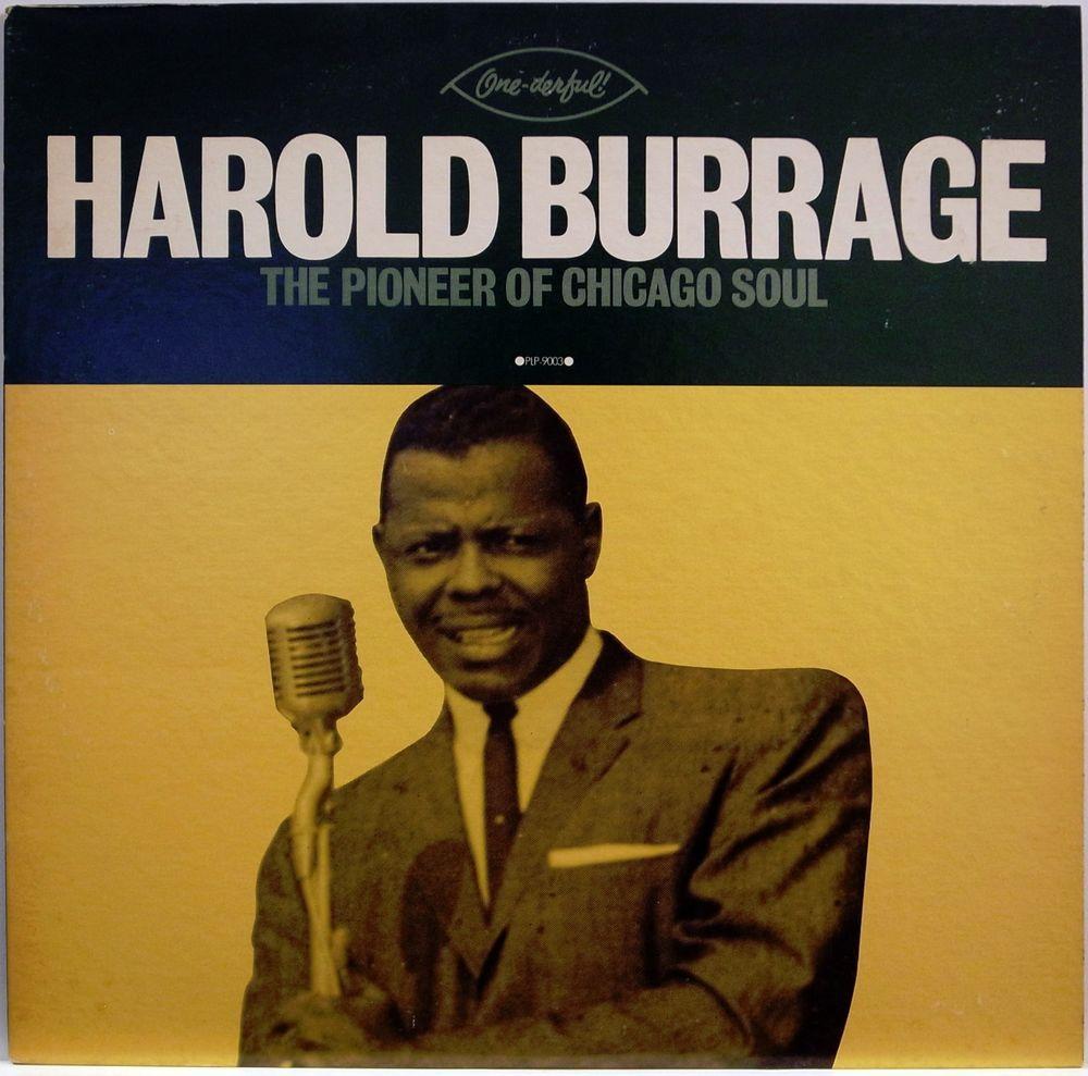 HAROLD BURRAGE / THE PIONEER OF CHICAGO SOUL / BLUES / R$B / P-VINE JAPAN