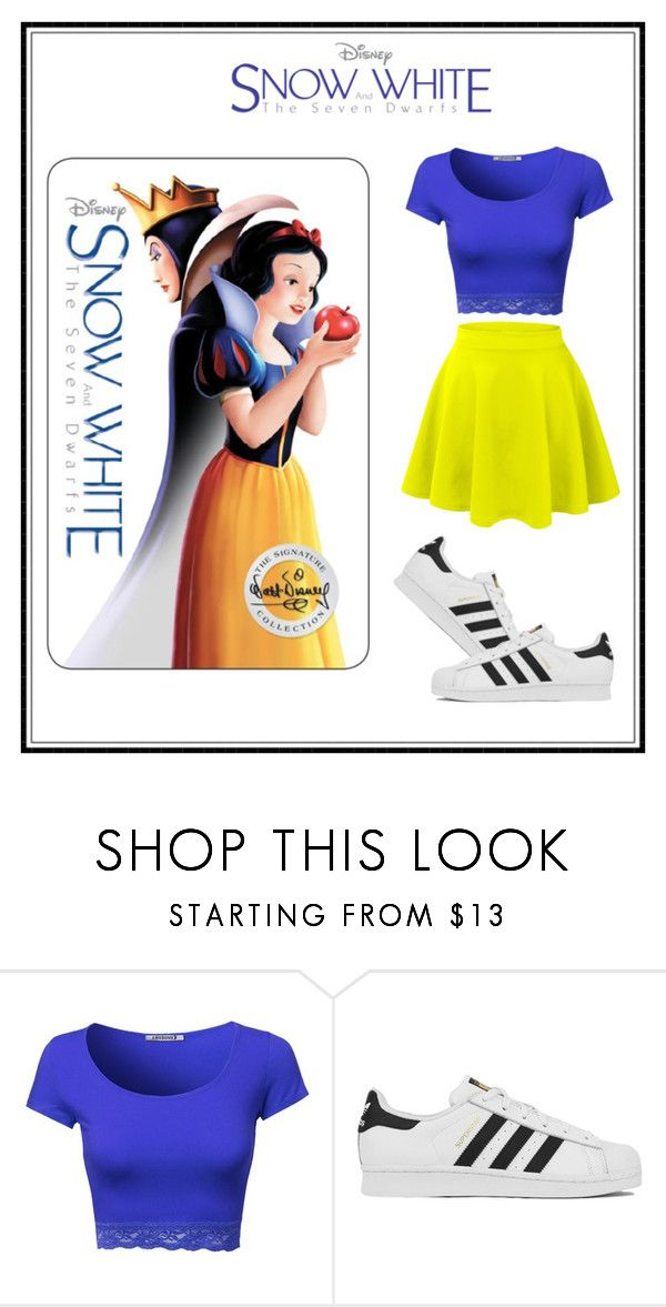 """""""Modern Snow White"""" by lydia129 ❤ liked on Polyvore featuring adidas, LE3NO, modern, women's clothing, women's fashion, women, female, woman, misses and juniors"""